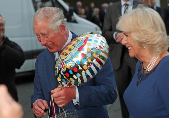 Charles was given a balloon and present Image PA