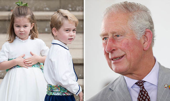 Charlotte and George caused their grandfather Charles a bit of trouble Image GETTY