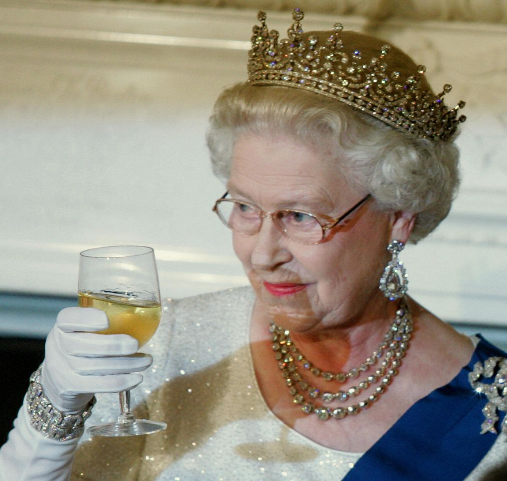 Cheers to you Your Majesty Source Getty