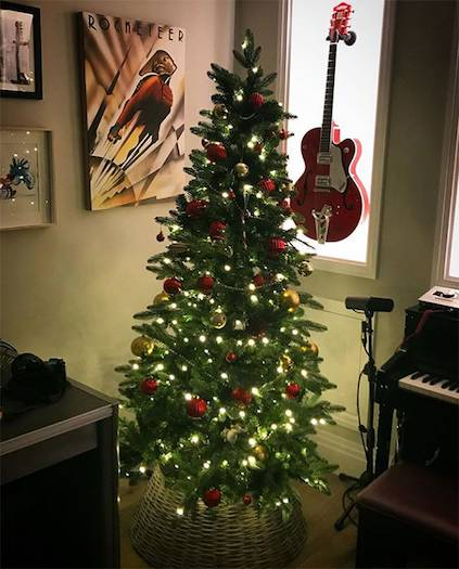 Christmas obsessed Tom Fletcher put up a Christmas tree in his office at the beginning of November Photo C GETTY