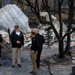 Donald Trump visited California on Saturday to see the destruction for himself Image REUTERS