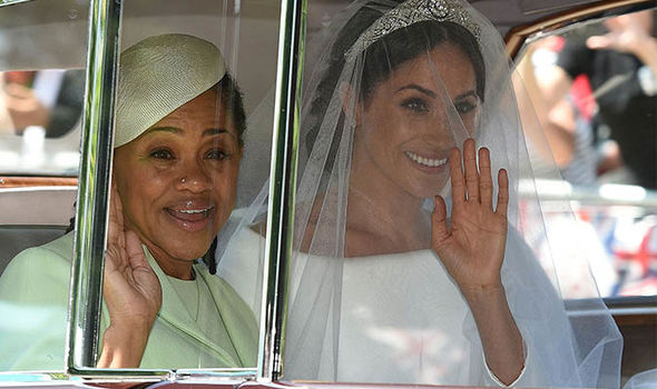 Doria Ragland arrived at the wedding with Meghan Markle Image GETTY