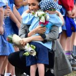 Duchess Meghans warm personality led to lots of hugging wherever they went in Australia Image Getty Images