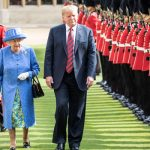 During Donald Trump's visit to Windsor in July they gave him a ceremonial welcome Image Getty