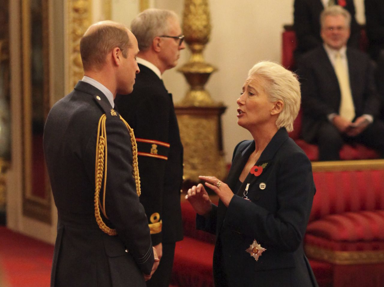 Emma Thompson teases Prince William as she accepts her damehood Photo AAP