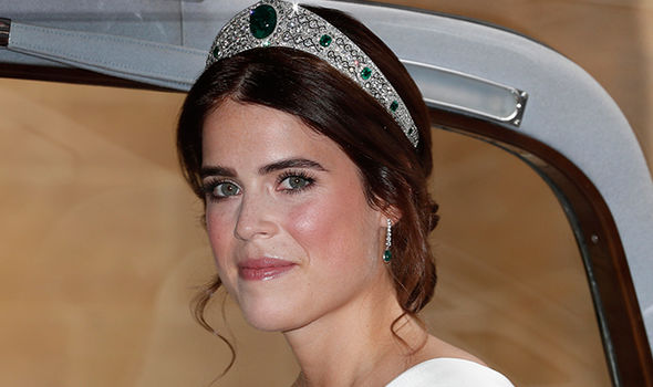 """Eugenie sported what is called a """"glass skin"""" on her wedding day Image Getty"""