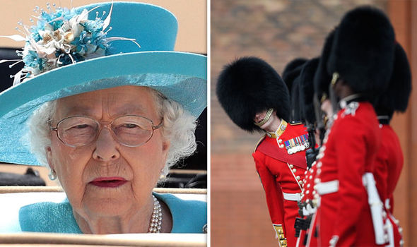 Five of the Queen's Coldstream Guards were arrested after being involved in a drunken fight Image GETTY
