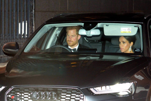Harry drove pregnant Meghan to the royal party Image PA