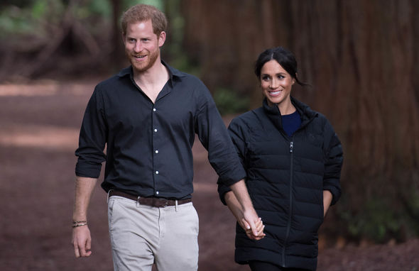 Harry pictured with Meghan in New Zealand will attend an event on his own on Thursday Image GETTY