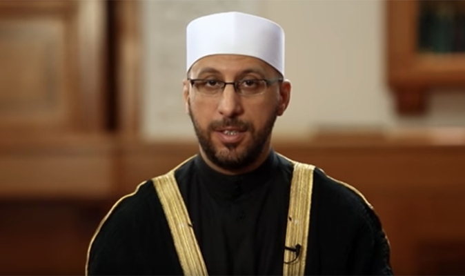 Imam Samer Darwish appears in one of his videos on the Islam Channel Image The Islam Channel