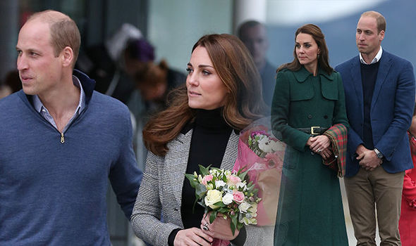 Kate Middleton Prince William The pair broke royal protocol after visiting Canada in 2016 Image Getty
