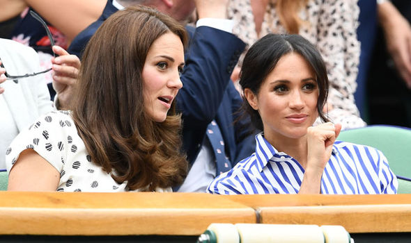 Kate Middleton and Meghan Markle at Wimbledon together Image GETTY