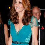 Kate Middleton latest news Duchess wore the turquoise blue dress with lace insets Image GETTY