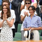 Kate Middleton with Meghan Markle at Wimbledon Image GETTY