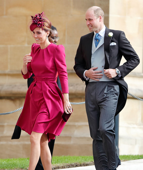 Kate and Prince William at the wedding of Princess Eugenie last month Image GETTY