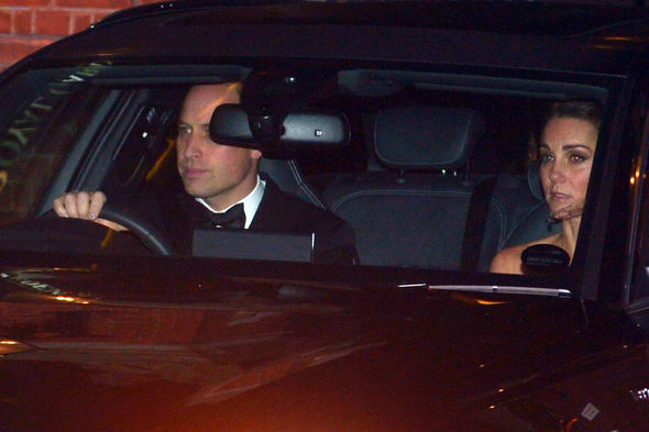 Kate and William arrive at Charless birthday bash Image PA