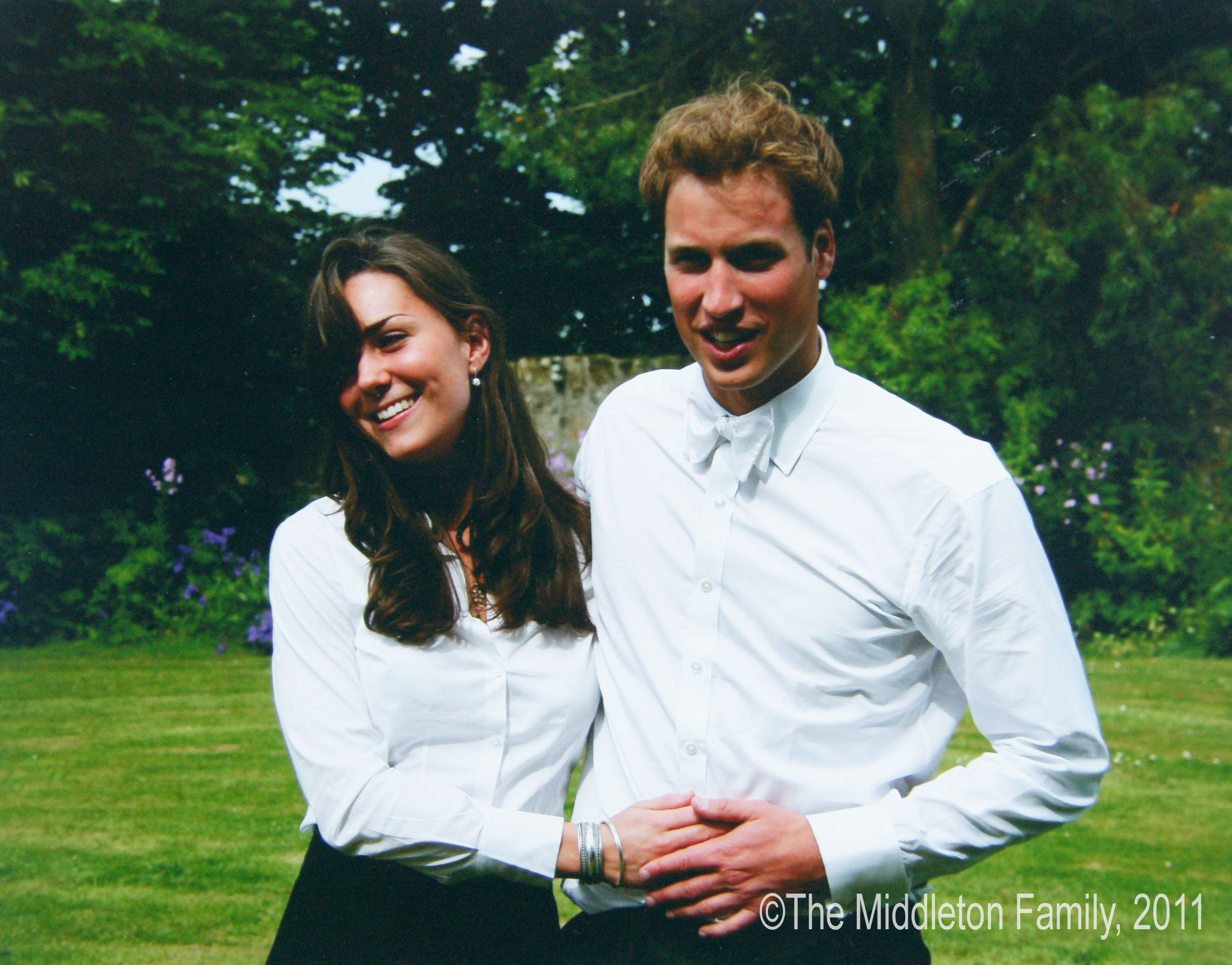 Kate and William on their day of their graduation in 2005 Getty