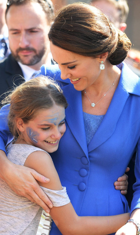 Kate has a notably soft spot for children Image GETTY