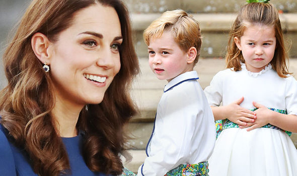 Kate reveals an important tip she tells her two children Prince George and Princess Charlotte Image GETTY