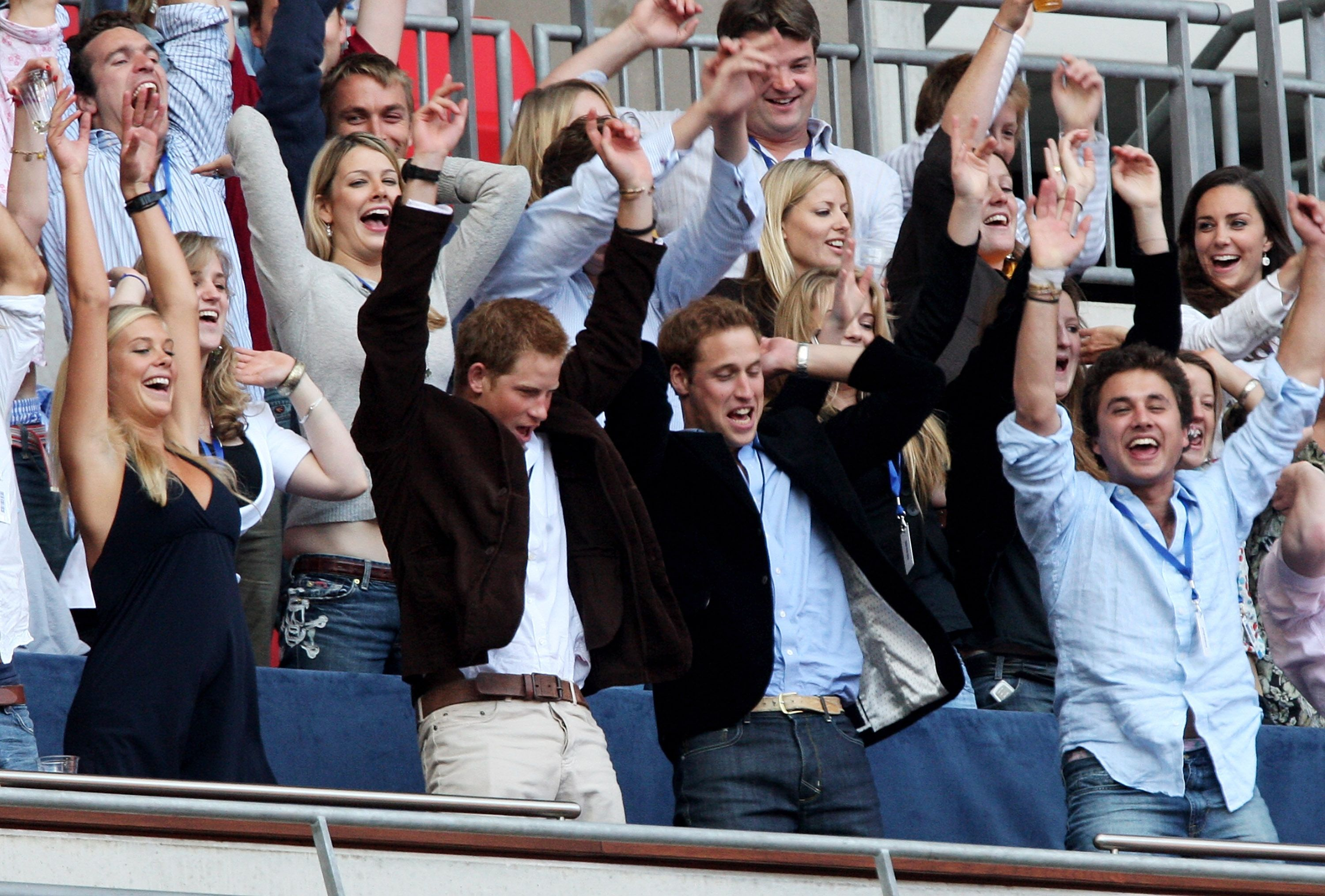 Kate sat two rows behind William at the Concert for Diana in June 2007 Getty