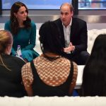 Kate speaks with young people who wrote and performed in a new campaign video for Stop Speak Support Image GETTY