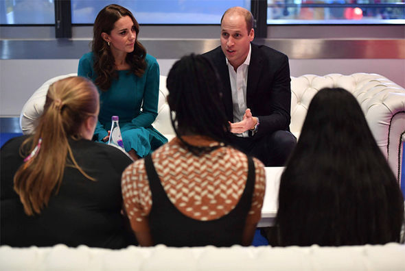 Kate and Prince William visiting the BBC to day as they mark Anti Bullying Week Image PA