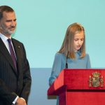 King Felipe watched his daughter confidently give read the 169 articles of Spains Carta Magna Image GETTY