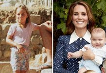 Louis looks strikingly similar to his mother Kate when she was a child Image MIDDLETON FAMILY GETTY