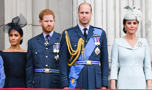 Meghan Markle Prince Harry Prince William and Catherine Middleton left to right Image Anwar Hussein WireImage