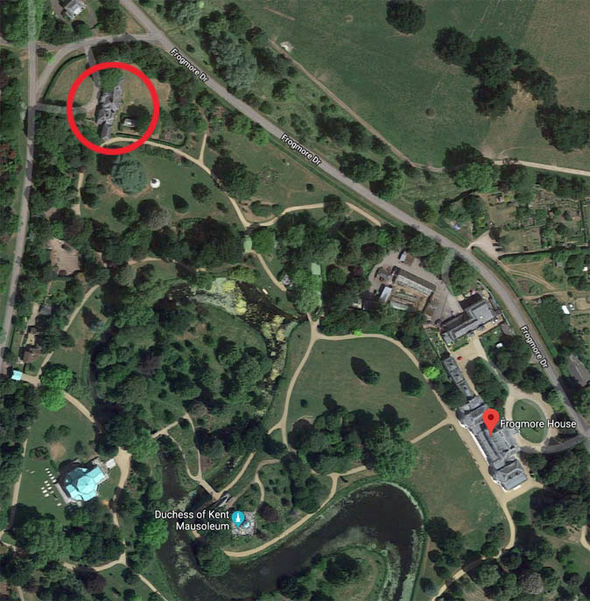 Meghan Markle and Prince Harry The cottage is circled Image Google Maps