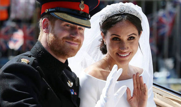 Meghan Markle and Prince Harry tied the knot six months ago Image GETTY