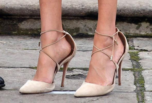 Meghan Markle has been regularly spotted wearing shoes which are too large for her Image GETTY
