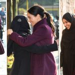 Meghan Markle news Meghan greets a friend at the Hubb Community Kitchen London on Thursday Image Getty
