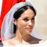 Meghan Markle news The Duchess wore Queen Mary's diamond bandeau tiara Image GETTY