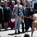 Meghan Markle took part in a traditional Maori welcoming ceremony when they visited Te Papaiouru Image GETTY