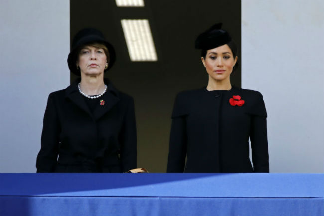 Meghan Markle was dressed in an all black outfit for the Remembrance Day service Photo C GETTY IMAGES