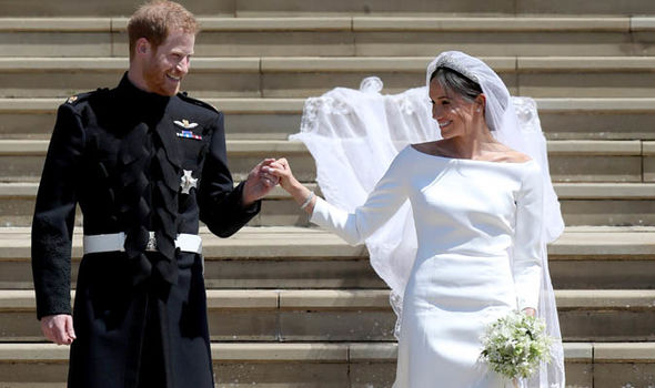 Meghan Markle wore a Givenchy and a Stella McCartney dress on her wedding day Image GETTY