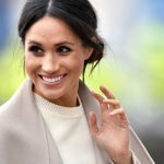Meghan Markle wore a cream jumper by Victoria Beckham during a visit to Northern Ireland Image GETTY