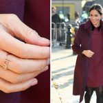 Meghan Markle wore a never before seen ring believed to be from LA based Meredith Hahn Image GETTY