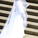 Meghan Markles opted for a more modern and sleek wedding gown Image GETTY