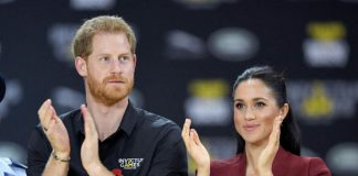 Meghan and Harry announced they were expecting their first child last month in Australia Image GETTY