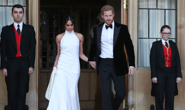 Meghan and Harry held their evening wedding reception at the English country house Image GETTY