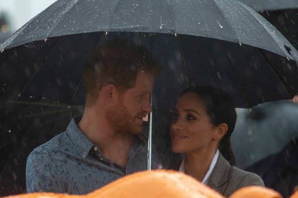 Meghan and Harry share a sweet moment in New Zealand Image PA