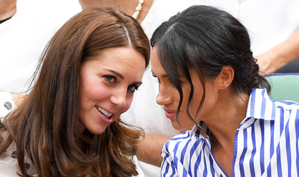 Meghan and Kate at day twelve of the Wimbledon Tennis Championships Image GETTY
