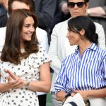 Meghan and Kate pictured at Wimbledon this year Image GETTY