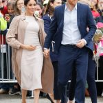Meghan is expecting her first child with Harry Image GETTY