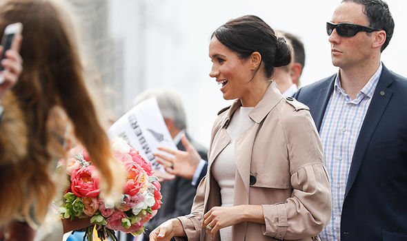 Meghan meets fan on the Royal tour Image GETTY