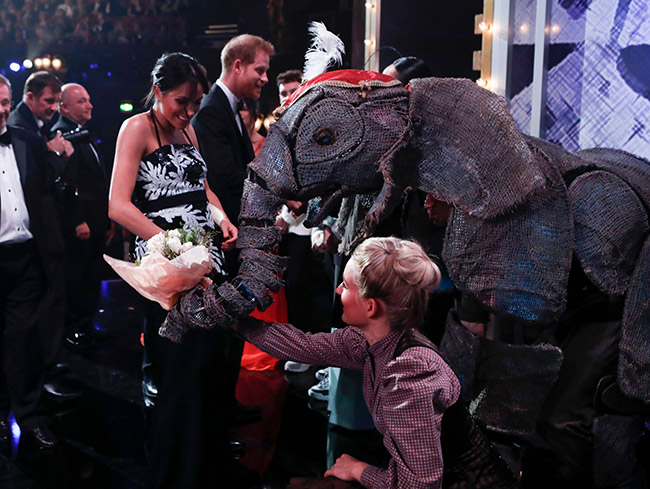 Meghan was delighted with her bouquet Photo C REX