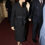 Meghan wore black to the event Image PA