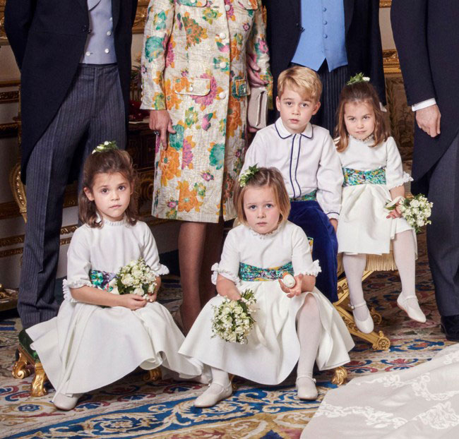 Mia stole the show at the royal wedding Photo C GETTY